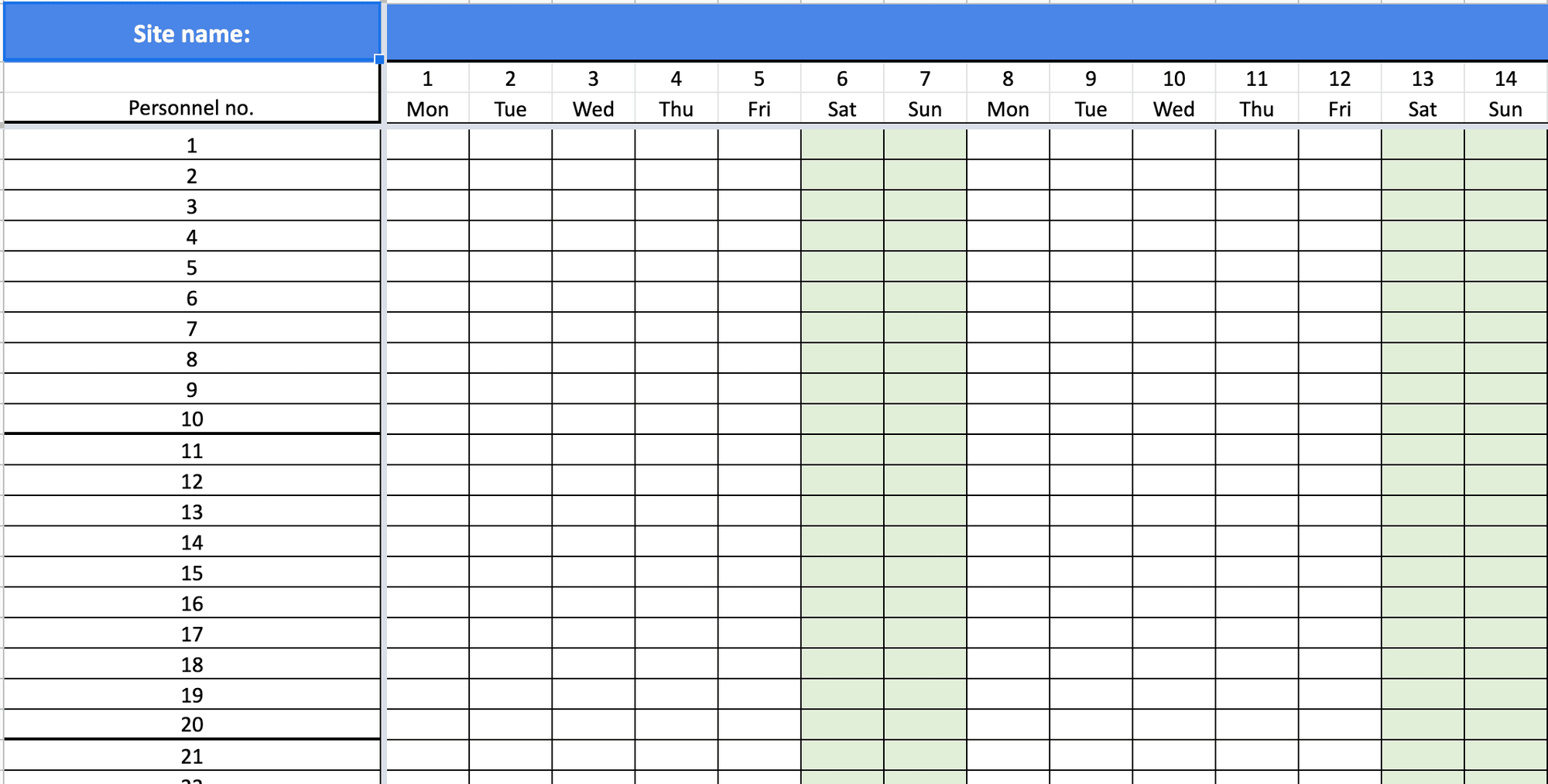shift roster excel template how to set it up